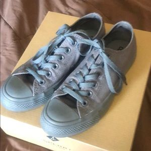 Gray Converse worn twice